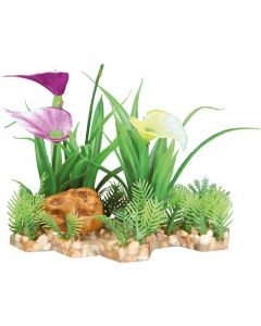 Vackra växter med utbyggbar bottenplatta
