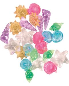 Dekorativa kristallsnäckor som ger vacker inredning