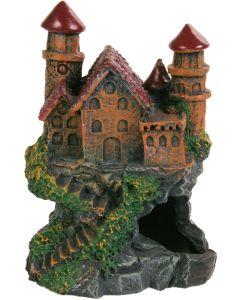 Slott på klippa med fina detaljer