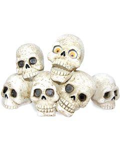 Självlysande zombie dödskallar