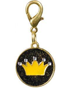 Medaljong krona med guld och strass