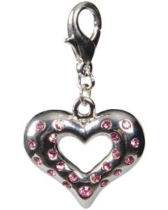 Hjärta med rosa strass dekor