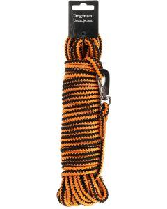 Dogman Spårlina Orange 15m. Klassisk dressyr och spårlina.