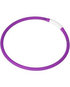 Dogman LED-Ring Lila OneSize. Silikon halsband med LED ljus.