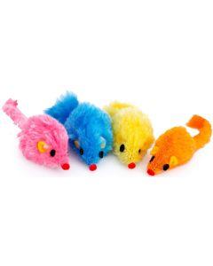Färgglad mus med rassel