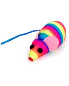 Regnbågsfärgad råtta med rassel