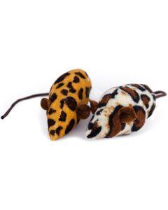 Mjuk plyschmus med safari mönster