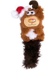 Kong Holiday X-mas Kickeroo . Mysig jul-leksak med kattmynta och prassel.