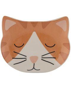 Mason Cash Cat Bowl Ginger. Kattmat tallrik med låga kanter.