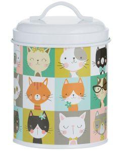 Pawtrait Storage Cat 11x16 cm. Godisburk med lock och söta katter.
