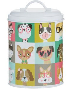 Pawtrait Storage Dog 11x21 cm. Godisburk med lock och söta hundar.