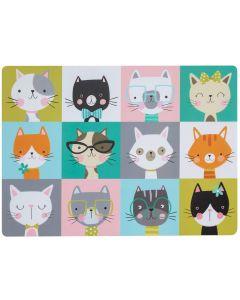 Pawtrait Placemat Cat 43x31 cm. Matskålsunderlägg med söta katter.
