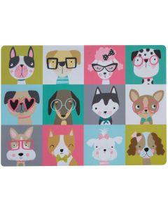 Pawtrait Placemat Dog 43x31 cm. Matskålsunderlägg med söta hundar.