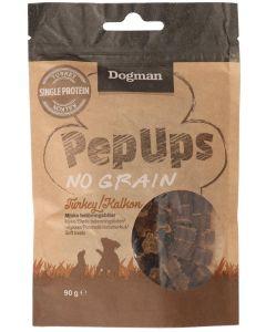 Dogman Pep Ups No Grain Turkey. Mjuka belöningsbitar med kalkon.