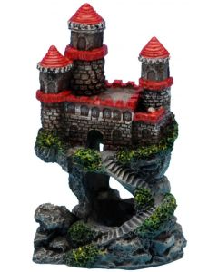 Litet slott med fina blå detaljer