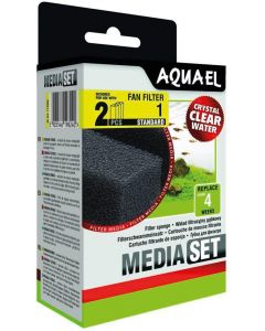 Aquael Sponge 2-p Fan 1+. Filtersvampar till innerfilter Fan 1 Plus.