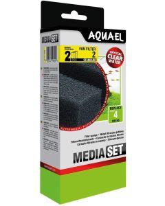 Aquael Sponge 2-p Fan 2+. Filtersvampar till innerfilter Fan 2 Plus.
