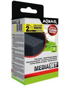Aquael Sponge 2-p Fan Mikro+. Filtersvampar till innerfilter Fan Mikro Plus.