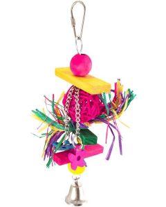 Dogman Fågelleksak Liza 21cm. Leksak med rottingboll och bjällra.