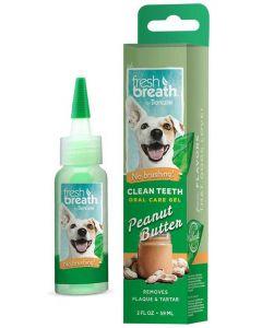 Tandgel som inte kräver tandborste med jordnöt