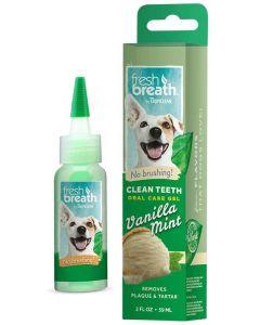 Tandgel som inte kräver tandborste med vaniljsmak