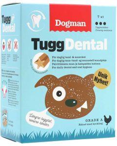 Dogman TuggDental Kyckling 28p. Plackreducerande stix för daglig tand- & munvård.