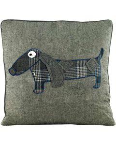 Prydnadskudde med hund dekor