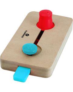 Flamingo Brain Train Wiles. Spel med två olika moment: lyft och skjuta reglage.