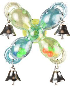 Flamingo Bird Toy Sigma Bells. Leksnurra med bjällror och pinglor.