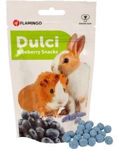 Flamingo. Dulci Blueberry Snacks. Krispig och mumsig godis till smådjur.