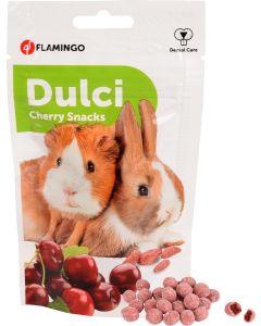 Flamingo. Dulci Cherry Snacks. Krispig och mumsig godis till smådjur.