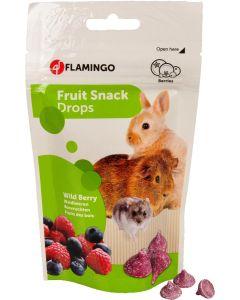 Flamingo. Fruit Snack Drops Wild Berry. Yoghurt godis till smådjur.