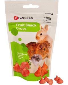 Flamingo. Fruit Snack Drops Strawberry. Yoghurt godis till smådjur.