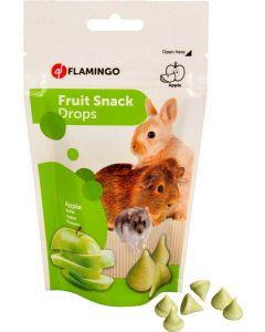 Flamingo. Fruit Snack Drops Apple. Yoghurt godis till smådjur.