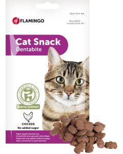 Flamingo. Cat Snack Dentabite. Tandvårdande godis med kyckling.