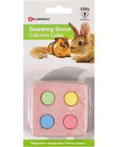 Flamingo Calcium Cube 4 Colour. Tandvårdande mineralsten till gnagare och kanin .