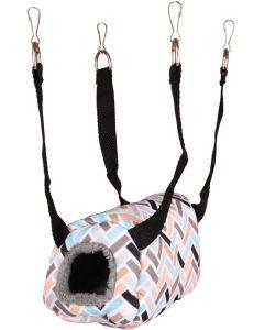 Flamingo. Hamsterhus Clavio Hanging 16cm. Bekväm sovplats som håller ditt smådjur trygg och varm.