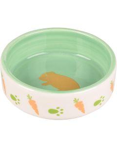 Flamingo. Keramikskål Hamster Grön. Keramikskål med fin dekor.
