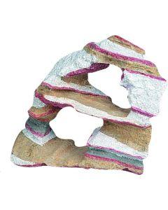 Flamingo. Dekoration Rainbow Rock. Fin dekoration för akvarium och terrarium.