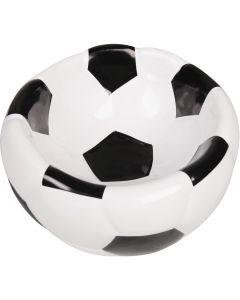 Keramikskål Fotboll 15cm/300ml. Matskål i keramik med fotboll design.