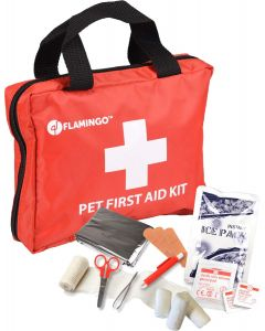 Flamingo. Pet First Aid Kit Premium. Stor välfylld första-hjälpen väska för husdjur och djurägare.
