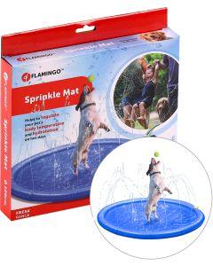 Flamingo. Fontänmatta Sprinkle Mat Dog. Fontänmatta som håller din hund sval under varma dagar .
