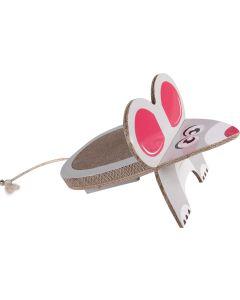 Klösbräda Wellpapp Mus. Klösbräda med lekfull djurdesign.
