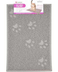 Flamingo. Kattsandsmatta Tumbi Grå XL. Kattsandsmatta i hållbar PVC.