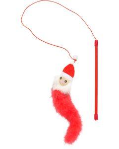 Flamingo X-mas Vippa Jultomte. Jultomte vippa med lång fjäderboa.