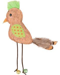 Kattleksak Kirk Fågel. Söt leksak med bjällror och fjädrar.
