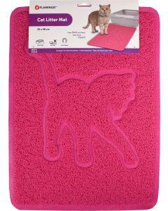 Flamingo. Kattsandsmatta Rosie Fuchsia. Kattsandsmatta i hållbar PVC.