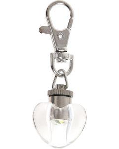Safety Light Blinki Heart Vit. Snyggt flashande blink-hjärta.
