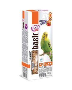 Lolo Smakers Budgie 3in1. Undulat kräcker med 3-smak mix.