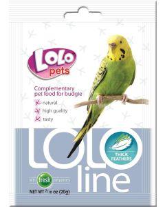 Lolo Thick Feathers Budgie 20g. Tillskott för tjockare fjädrar.